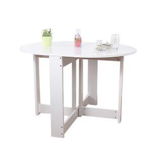 طاولة عملية مستديرة قابلة للطيَ موفرة للمساحة