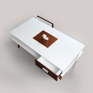 طاولة قهوة تحفة فنية موديل رولكس صناعة خشبية