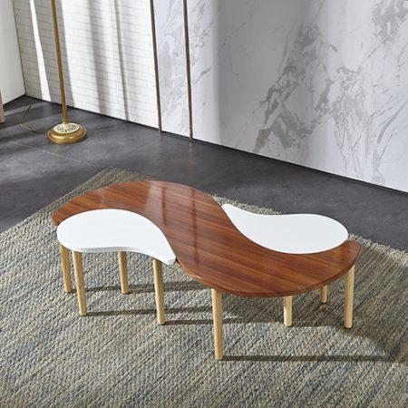 طاولة قهوة تحفة فنية موديل جازيلا صناعة خشبية