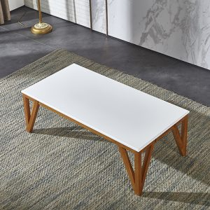 طاولة قهوة تحفة فنية موديل دايمونت صناعة خشبية