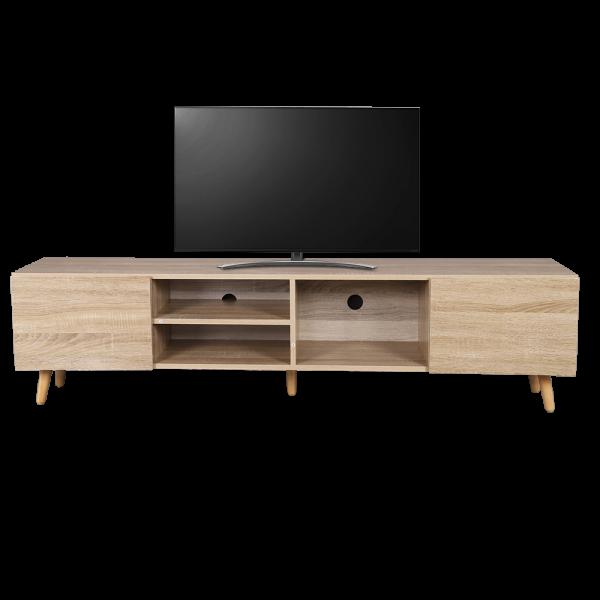 طاولة تلفاز موديل فينيس لون خشبي صناعة خشبية