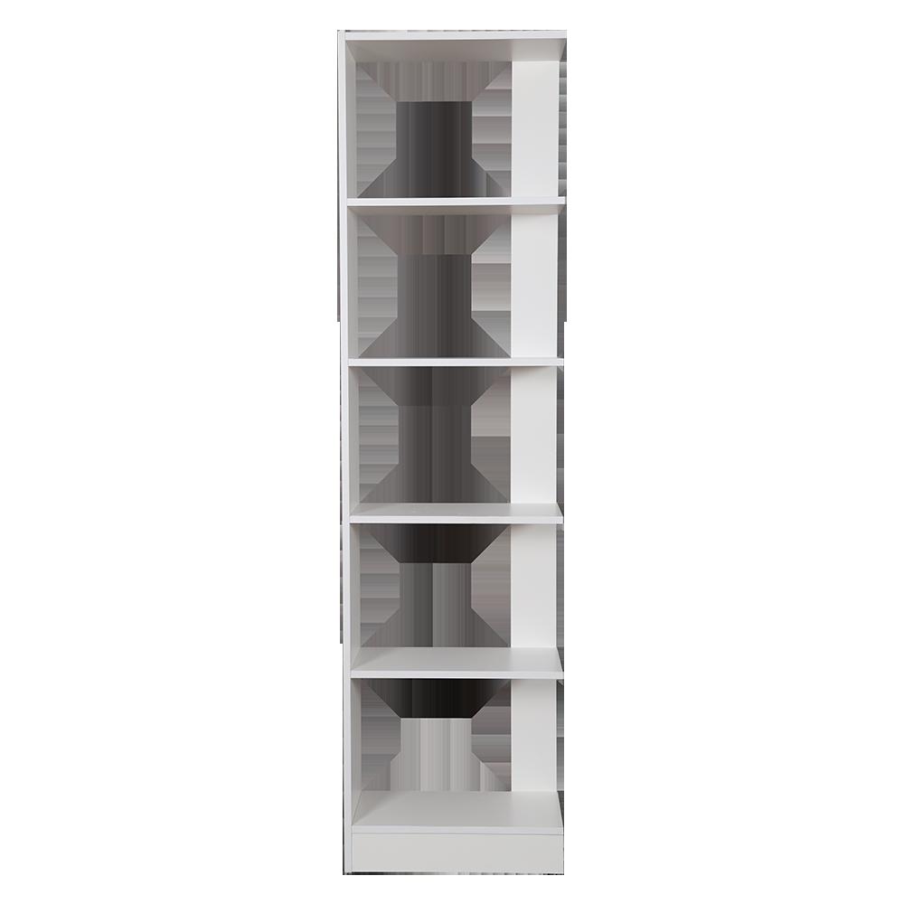 مكتبة مفتوحة موديل نفيس لون أبيض صناعة خشبية