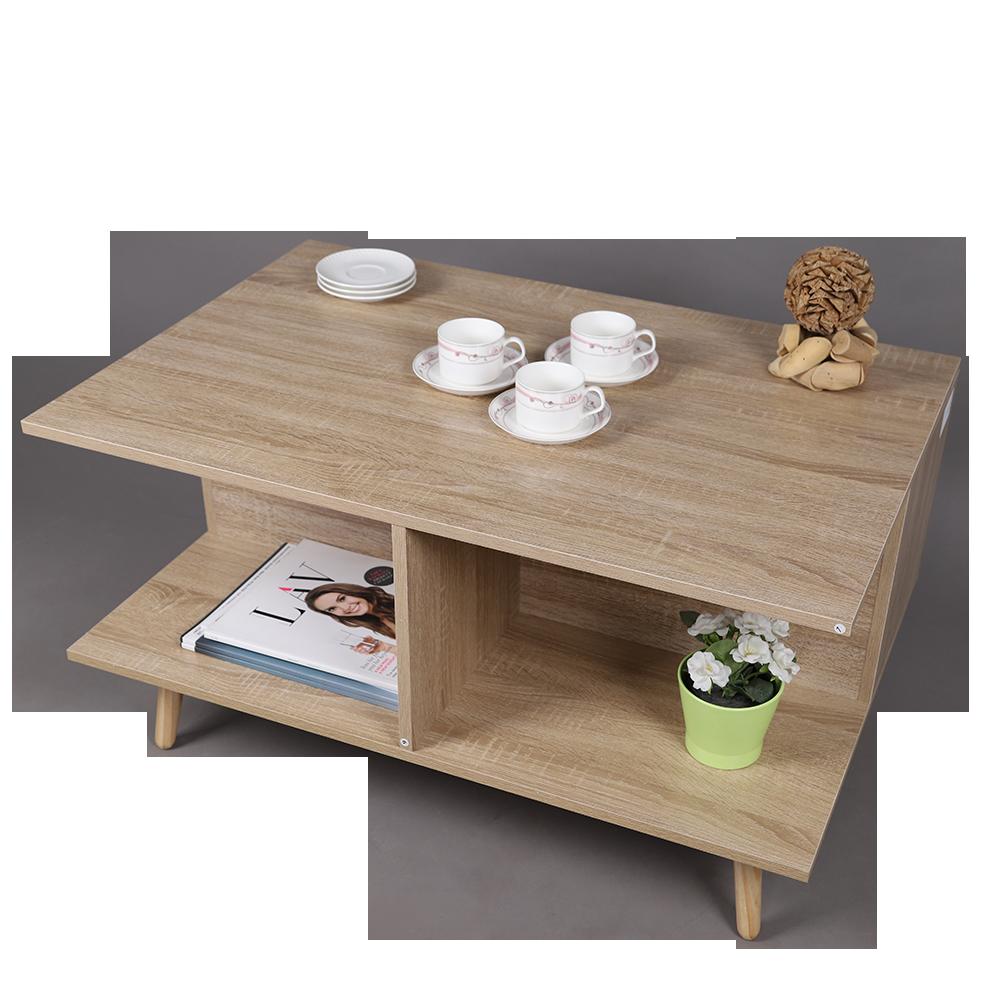 طاولة قهوة موديل فيوجن لون خشبي صناعة خشبية