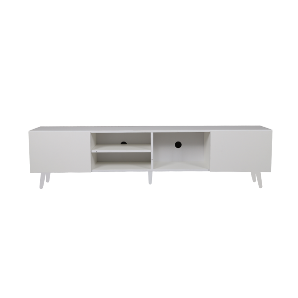 طاولة تلفاز موديل أسطنبول لون أبيض صناعة خشبية