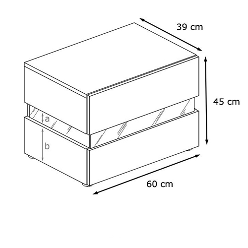 طاولة جانبية بدرجين تخزين موديل نيون