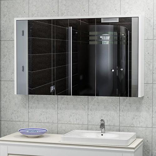 دولاب متعدد الاستخدام موديل سما 5 لون أبيض بمرآة