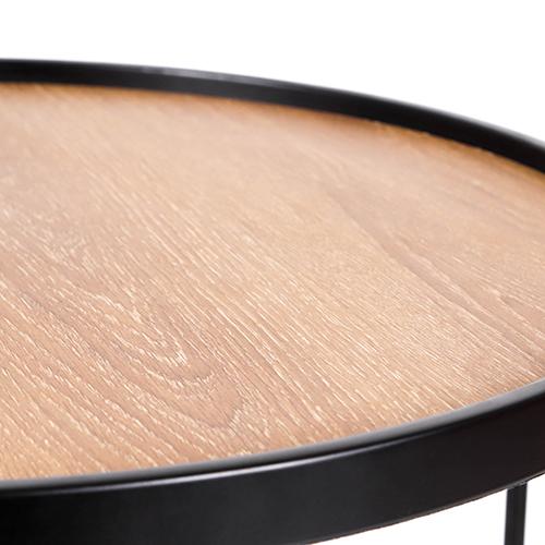 سطح طاولة قهوة خشبية