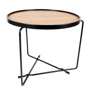 طاولة قهوة مستديرة موديل نيتشر بشكل دائري مصنوعة من الخشب