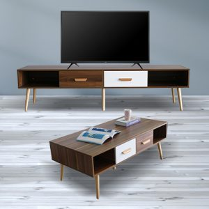 طاولة تلفاز وقهوة من يوتريد موديل Paris designe