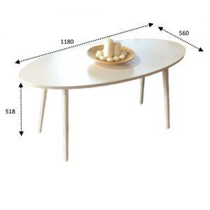 مقاسات طاولة قهوة لون أبيض