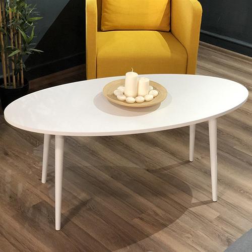 طاولات قهوة خشبية لون أبيض