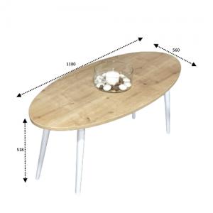 مقاسات طاولة قهوة لون خشبي
