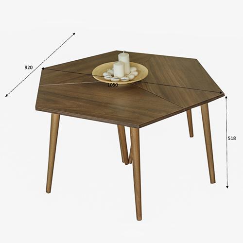 مقاسات طاولات قهوة خشب لون بني