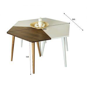 مقاسات طاولة قهوة