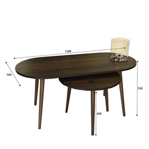 مقاسات طاولة قهوة خشبية