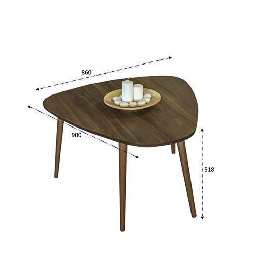 رسم مخطط لطاولة قهوة خشبية
