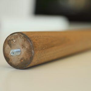 رجل طاولة من خشب الزان