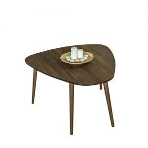 طاولة القهوة موديل أتايا لون بني صناعة خشبية بأرجل من خشب الزان