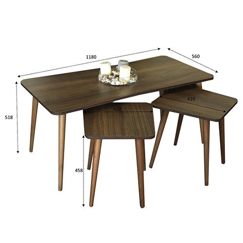 أبعاد ومقاسات طاولة قهوة خشب زان
