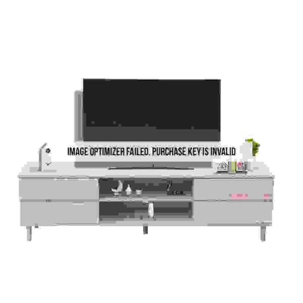 طاولة تلفاز بأربع أدراج ووحدات تخزين موديل تونيا صناعة خشبية لون خشبي