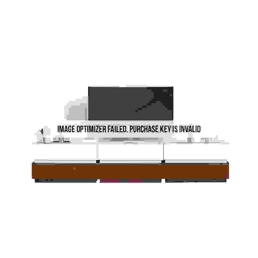 طاولة تلفاز موديل فور صناعة خشبية لون بني وأبيض