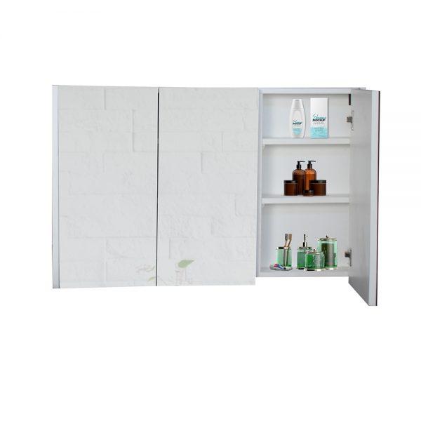 منظم متعدد الاستخدام موديل روكا بمرآة زجاجية وأبواب وأرفف خشبية