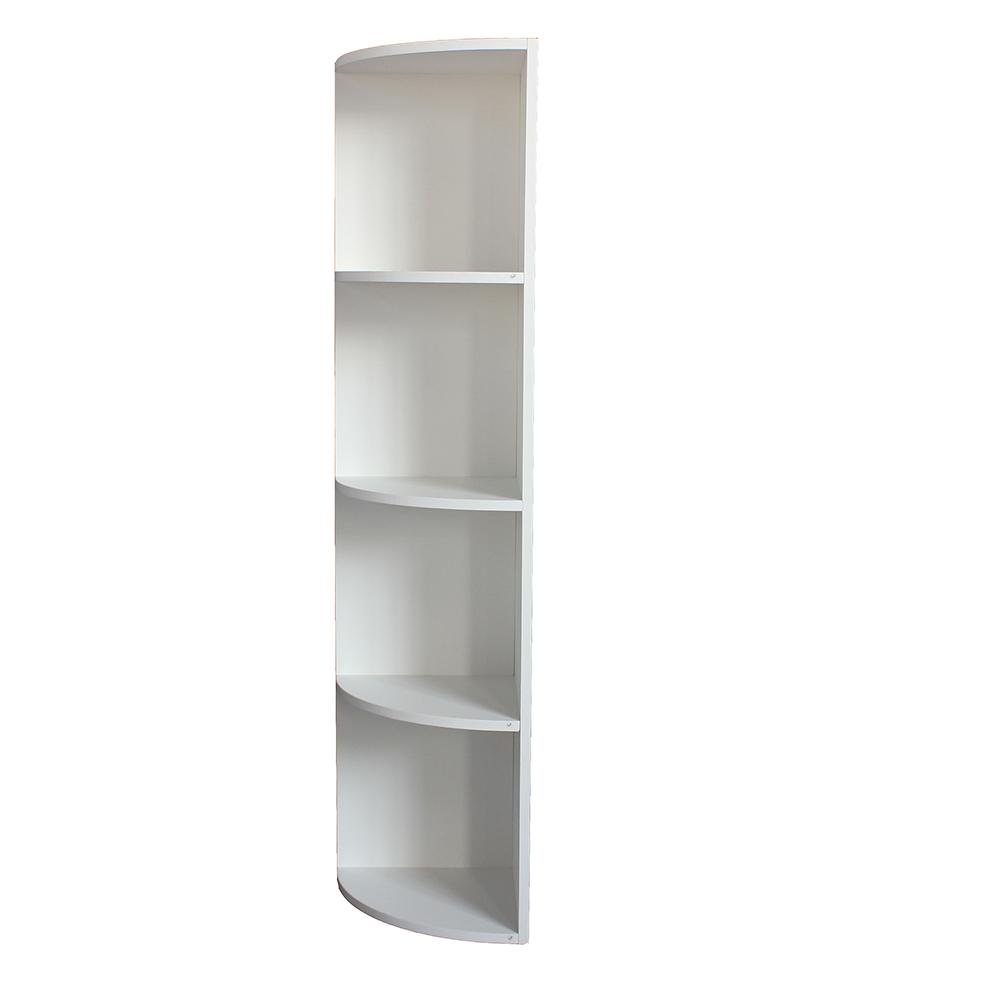 خزانة مفتوحة للكتب موديل دلتا مصنوعة من الخشب شكل نصف أسطواني