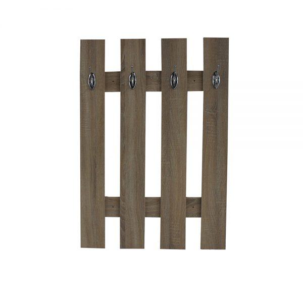 علاقة ملابس موديل ريتا مصنوعة من الخشب عدد 4 علاقات لون بني