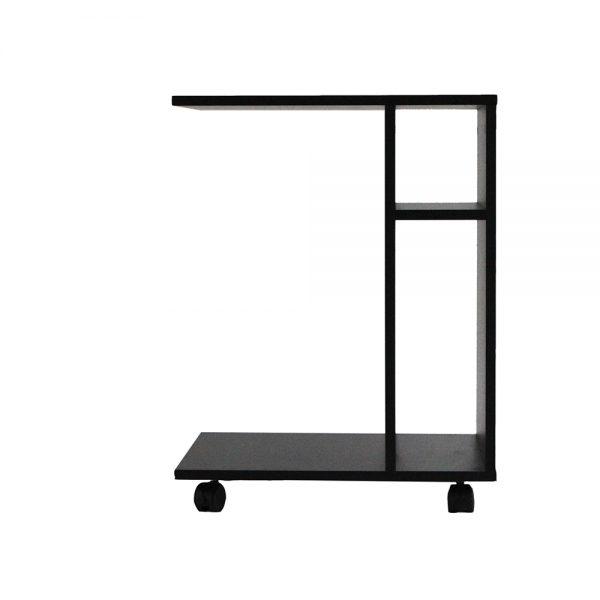 طاولة جانبية موديل ديبارو بعجلات متحركة 3 وحدات تخزين و4 أرفف