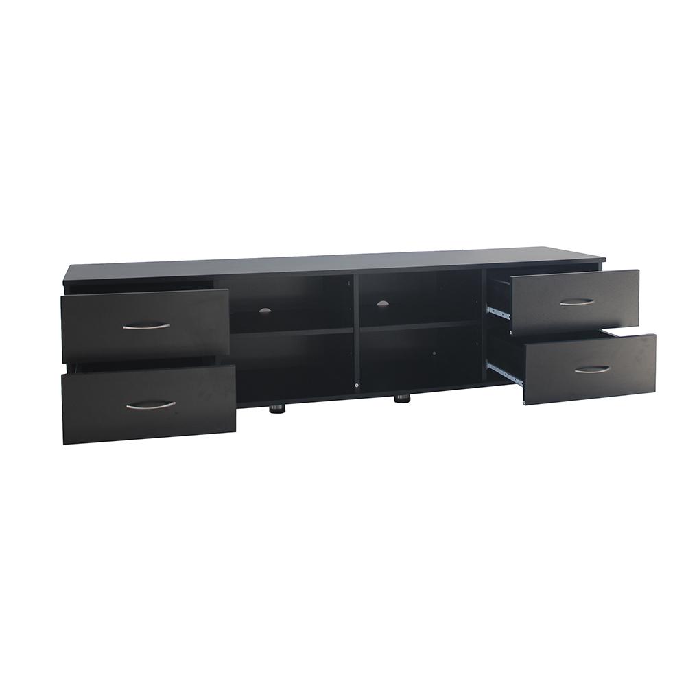 أدراج طاولة تلفاز لون أسود