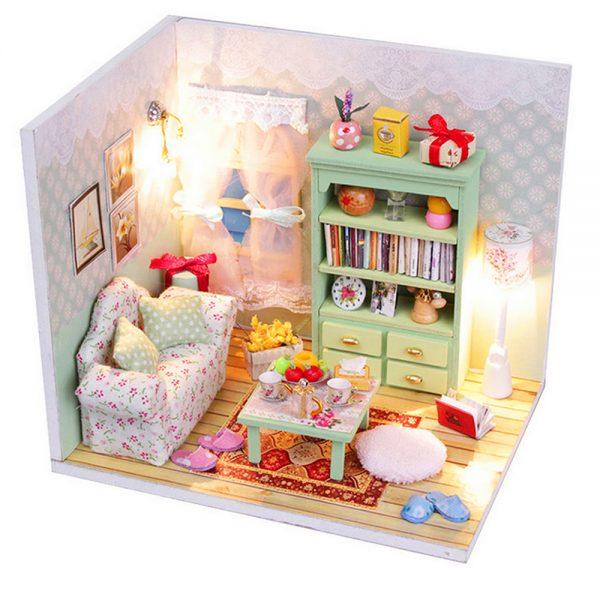 مجسم تركيب موديل هاوس فور محاكاة تركيب غرفة جميلة بإضاءة ليد