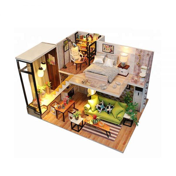 مجسم تركيب موديل هاوس تن محاكاة تركيب منزل جميل بإضاءة ليد