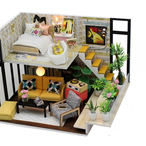 مجسم تركيب موديل هوم تو محاكاة تركيب منزل جميل بإضاءة ليد