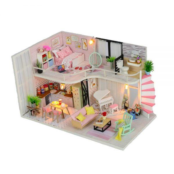 لعبة موديل هوم ناين محاكاة تركيب منزل جميل بإضاءة ليد