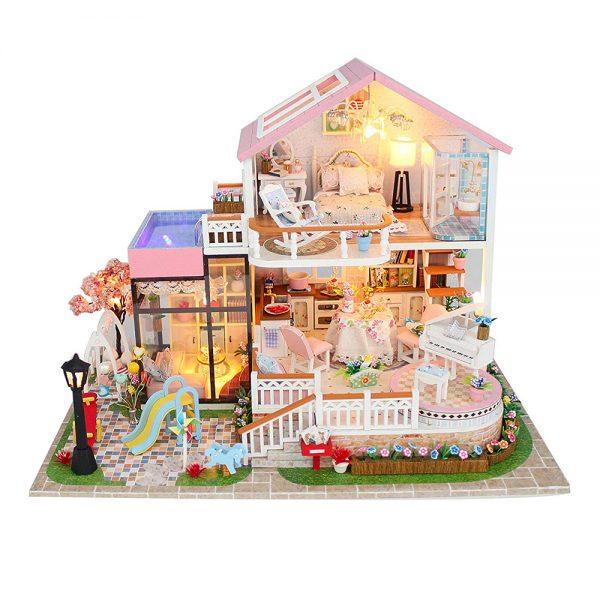 مجسم تركيب موديل بيوتفل هوم محاكاة تركيب منزل جميل بإضاءة ليد