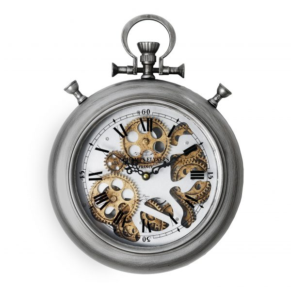 ساعة حائط موديل فورت نايت شكل دائري صناعة معدنية