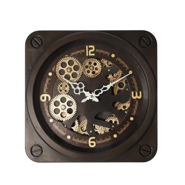 ساعة حائط موديل داون شكل مربع صناعة بلاستيكية