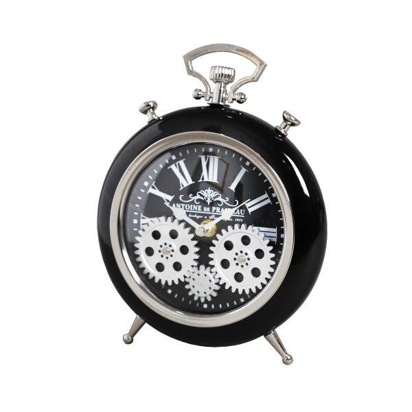 ساعة طاولة أنتيكة موديل سون شكل دائري صناعة معدنية