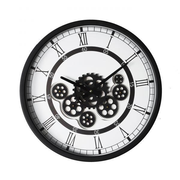 ساعة حائط أنتيكة موديل سن سيت شكل دائري صناعة معدنية