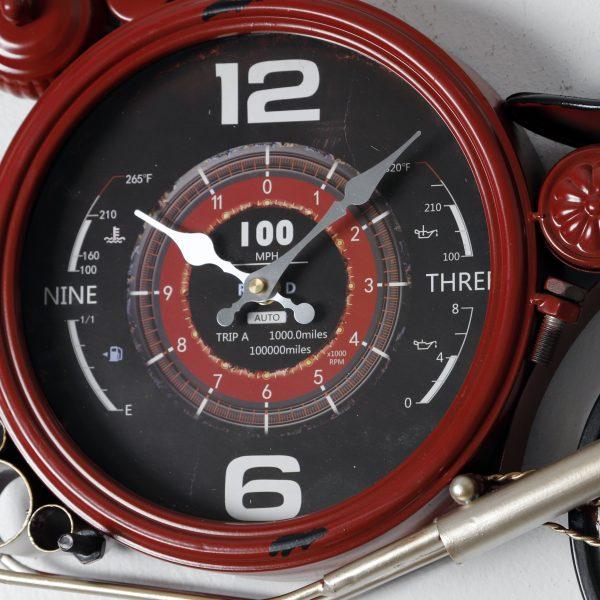 ساعة دائرية شكل دراجة نارية