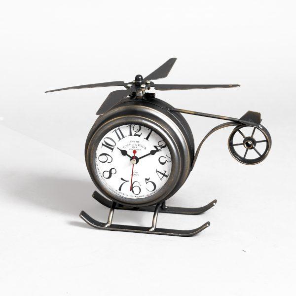 ساعة طاولة أنتيكة موديل بلان وان شكل الطائرة صناعة معدنية