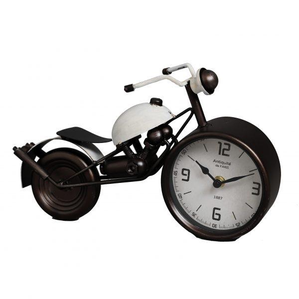 ساعة طاولة أنتيكة موديل موتور سيكل 2 شكل دراجة نارية صناعة معدنية