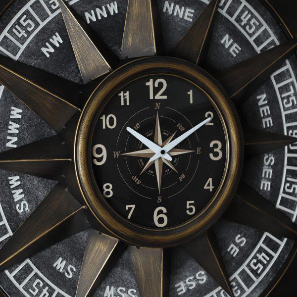 ساعة شكل البوصلة