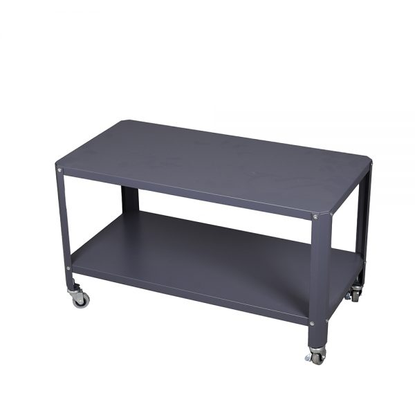 طاولة متعددة الاستخدام موديل لوساكا من طبقتين لون رمادي صناعة معدنية