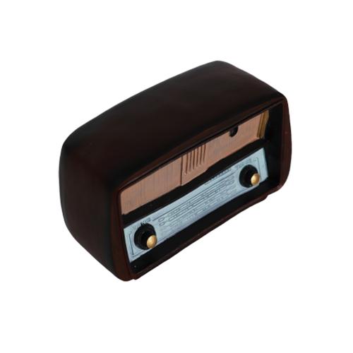 تحفة أنتيكة الراديو لون بني غامق طراز قديم للديكور المنزلي والمكتبي