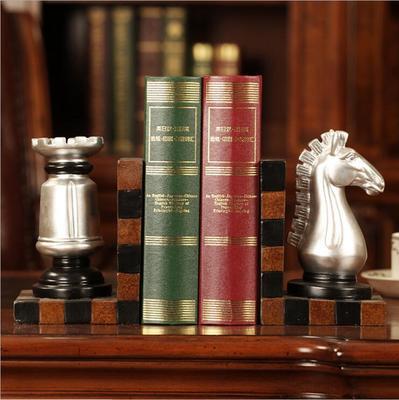 أرفف الكتب من دفتين شكل رأس الحصان لترتيب الكتب بديكور جميل