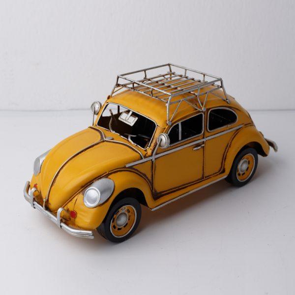 تحفة أنتيكة السيارة الصفراء طراز قديم للديكور المنزلي والمكتبي